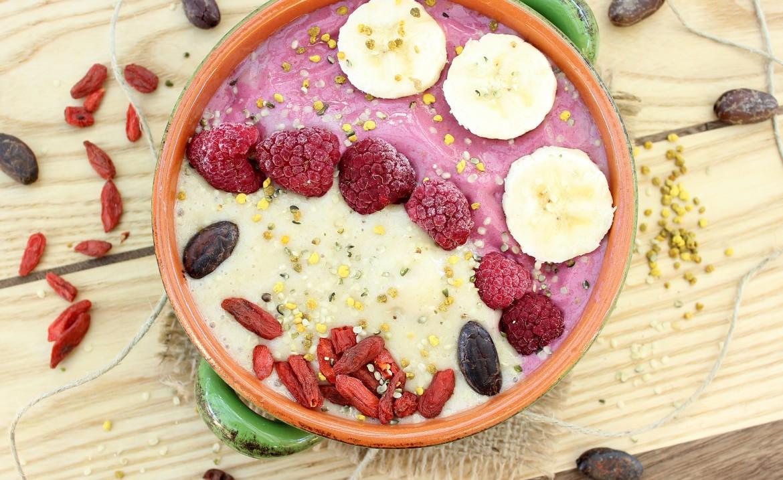 Banana Raspberry Smoothie Bowl