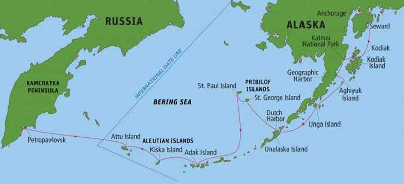 Where Are Aleutian Islands World Map Located