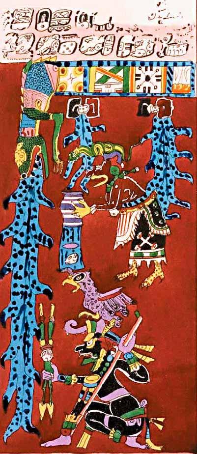 Dresen Codex last page with water destruction symbolism