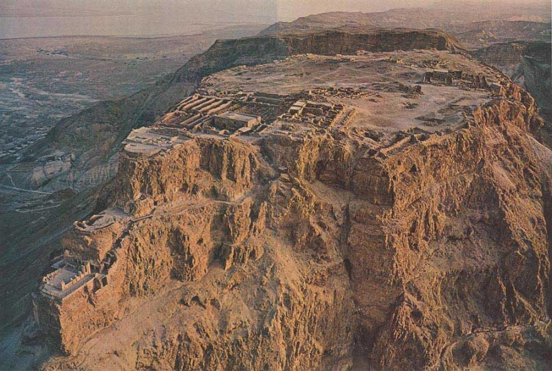 A picture of Masada taken from crystallinks.com