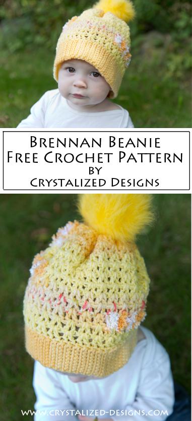 a94355de62a Brennan Beanie ~ A Free Crochet Pattern - Crystalized Designs Blog
