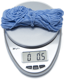 Weigh Scrap Yarn