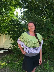 Kaimana Ponchette Crochet Pattern by Crystalized Designs Tested by Michelle