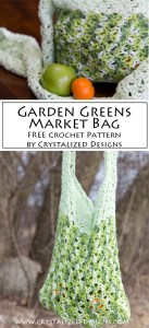 Garden Greens Market Bag Free Crochet Pattern by Crystalized Designs