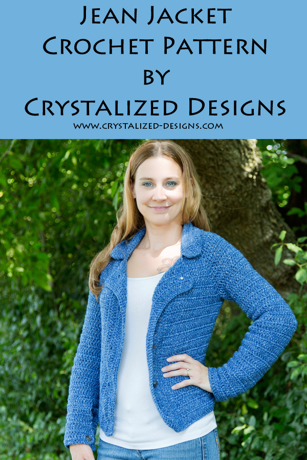 Jean Jacket Crochet Pattern by Crystalized Designs