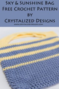 Sky and Sunshine Bag Free Crochet Pattern by Crystalized Designs