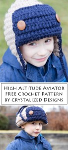 High Altitude Aviator Free Crochet Pattern by Crystalized Designs