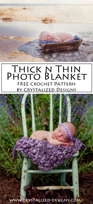 Thick n Thin Photo Blanket Free Crochet Pattern by Crystalized Designs