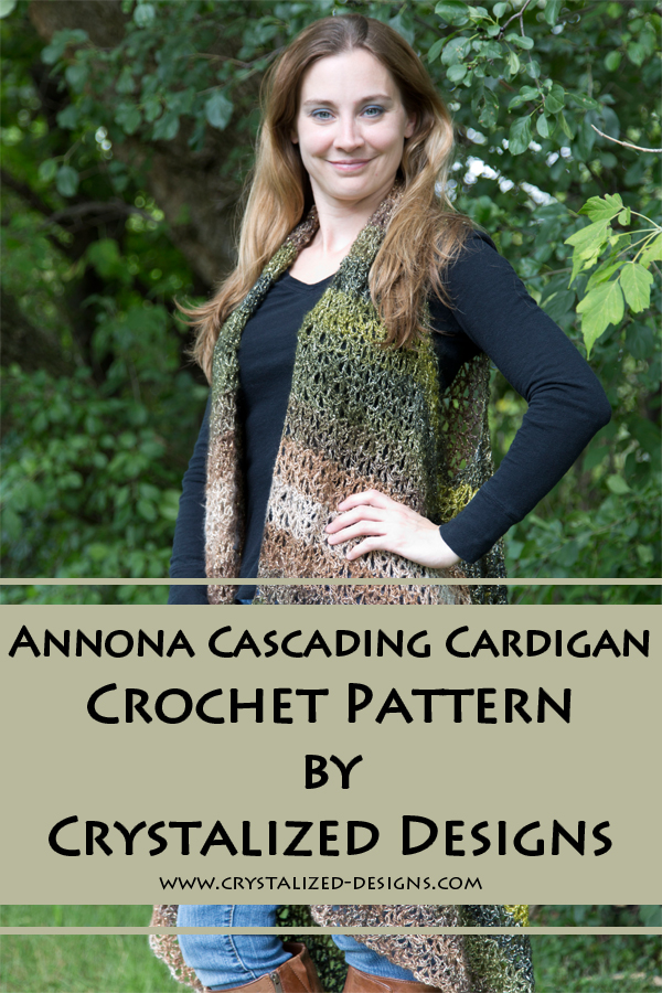 Annona Cascading Cardigan by Crystalized Designs
