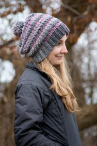Verity Beanie, Slouch, or Messy Bun Free Crochet Pattern by Crystalized Designs