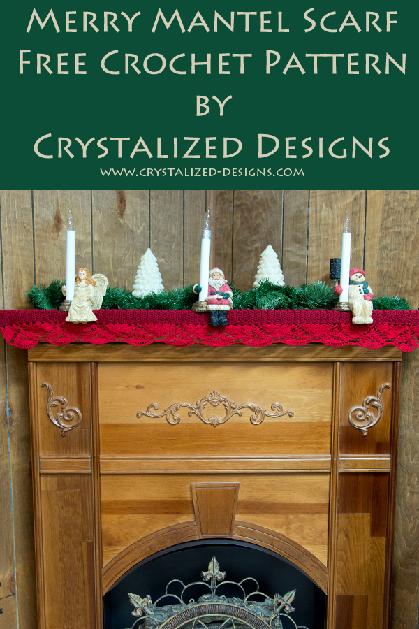 Merry Mantel Scarf Free Crochet Pattern by Crystalized Designs