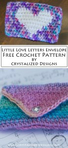 Little Love Letters Envelope Free Crochet Pattern by Crystalized Designs