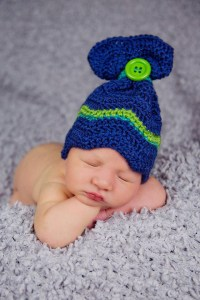 Chevron Sack hat by Crystalized Designs