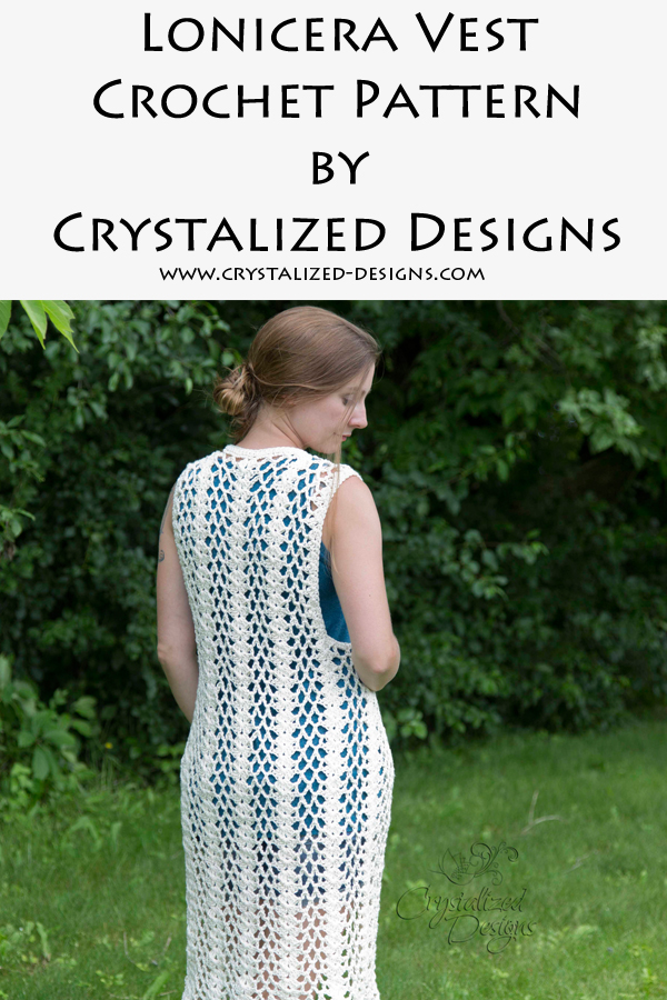 Lonicera Vest Crochet Pattern by Crystalized Designs