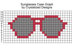 Sunglasses Case Crochet Pattern Graph