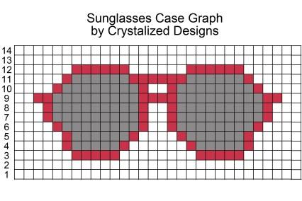 Sunglasses Case Crochet Pattern Graph