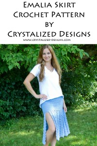 Emalia Skirt Top Crochet Pattern by Crystalized Designs