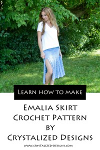 Emalia Top Skirt Crochet Pattern by Crystalized Designs