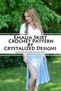 Emalia Skirt Top Cowl Crochet Pattern by Crystalized Designs