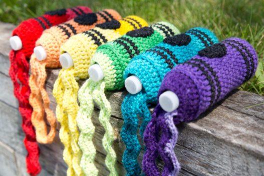 Scribble Strap Crayon Crochet Pattern