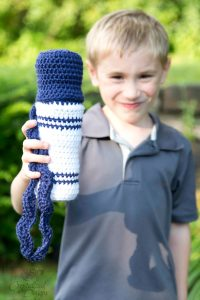 Marker Water Bottle Cozy Free Crochet Pattern by Crystalized Designs