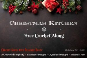 Christmas Kitchen Crochet A Long Free Pattern by Crystalized Designs