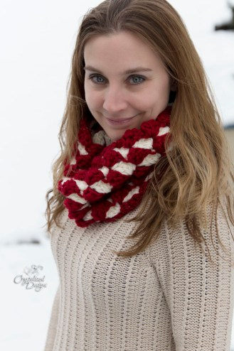 Meira Cowl Crochet Pattern by Crystalized Designs