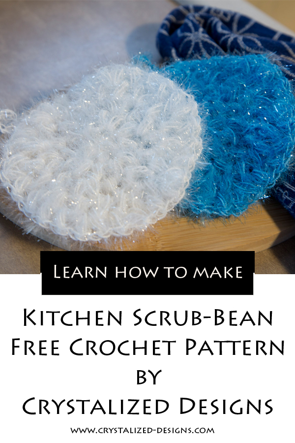 Kitchen Scrub Bean Free Crochet Pattern by Crystalized Designs