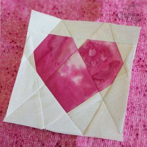 Small Heart Paper Piecing Sewing Pattern and Tutorial by Crystalized Designs