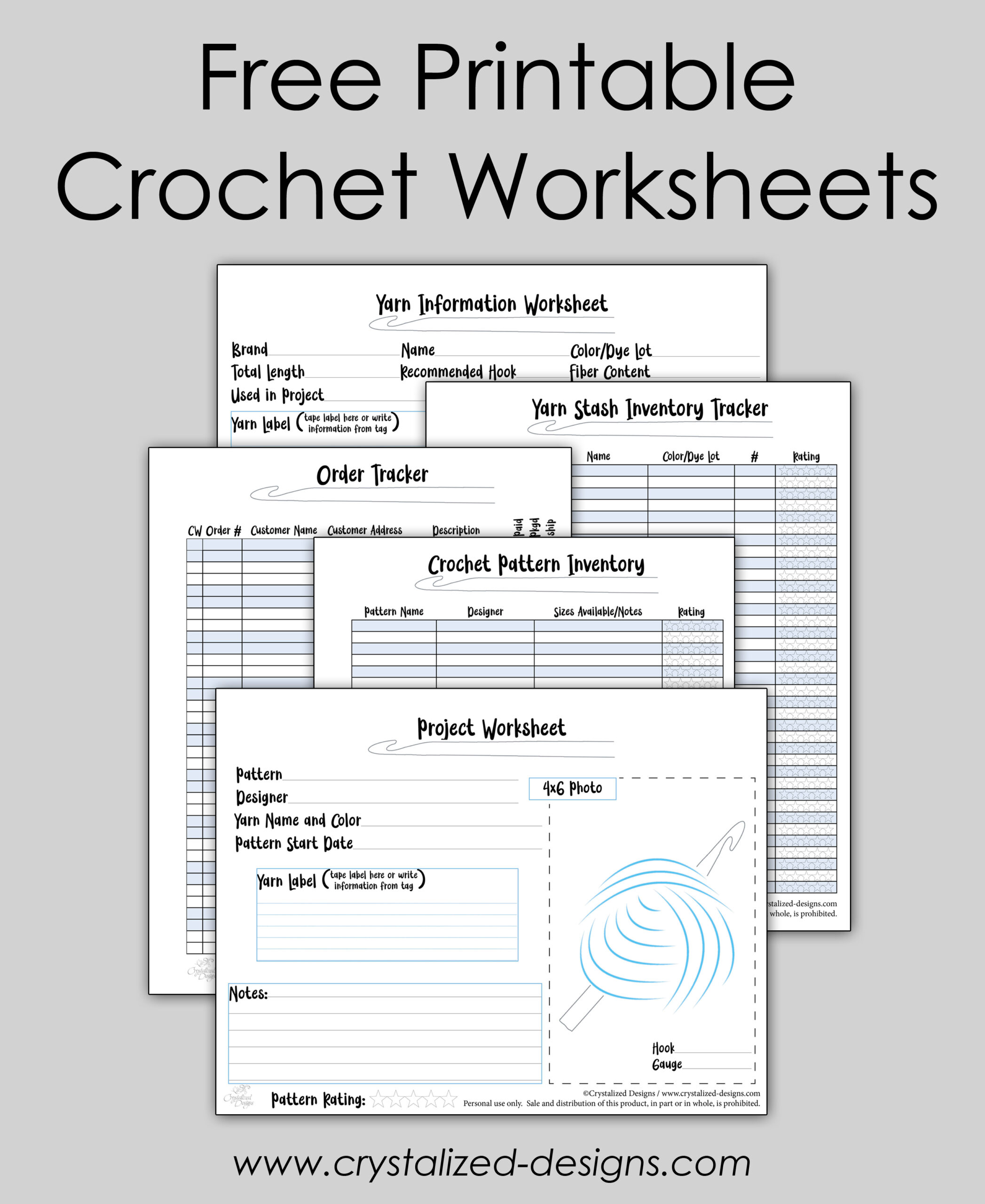 crochet tracker worksheets