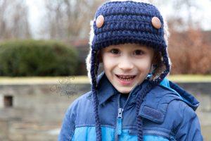 Free Crochet Aviator beanie