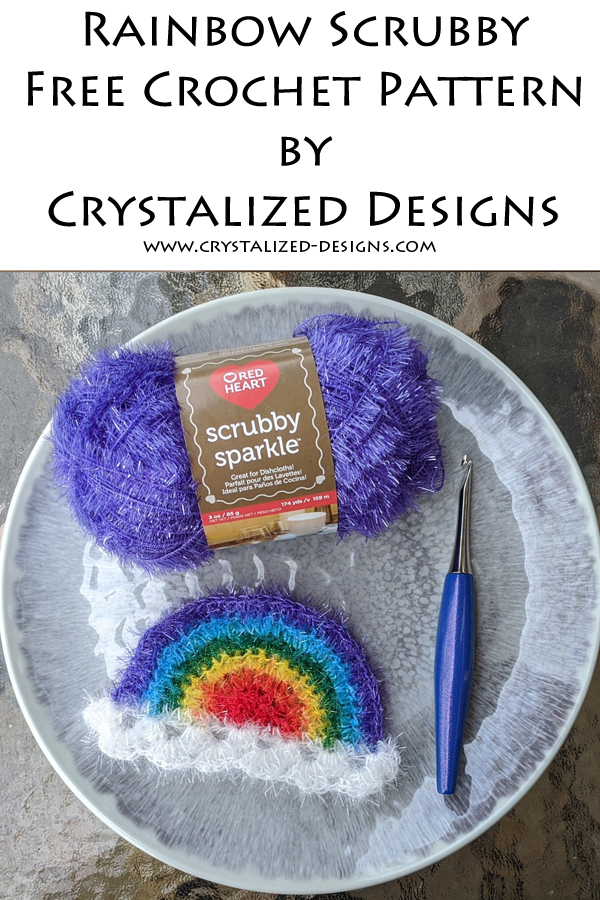 Rainbow Scrubby Free Crochet Pattern by Crystalized Designs