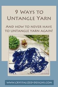 9 ways to untangle yarn