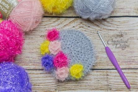 flower moon dish cloth crochet pattern