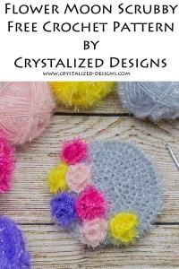 Flower Moon Scrubby Free Crochet Pattern by Crystalized Designs