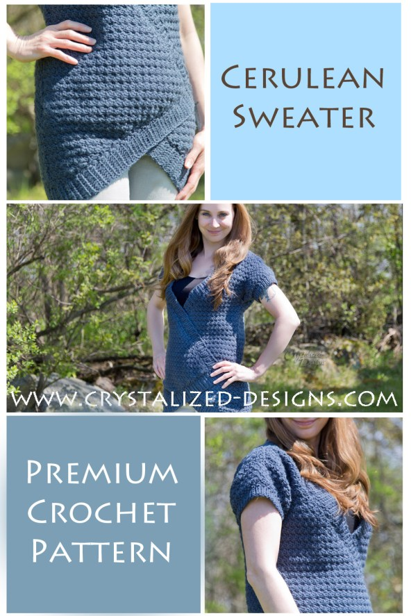 Cerulean Sweater Crochet Pattern by Crystalized Designs