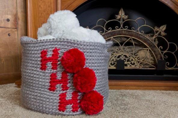 Christmas Basket Crochet Pattern