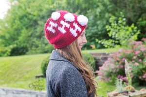 Ho Ho Ho beanie crochet pattern