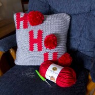Ho Ho Ho Holiday Pillow Cover Free Crochet Pattern