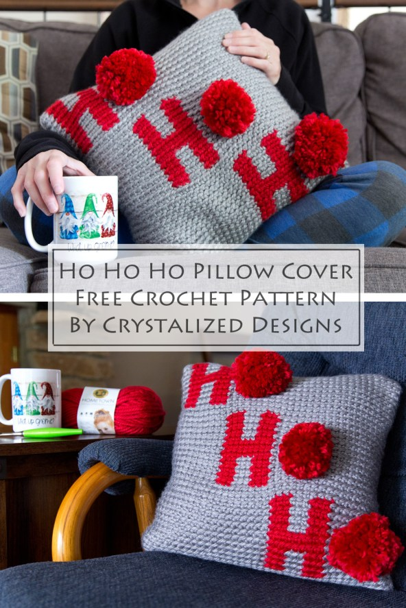 crochet Holiday Pillow Cover