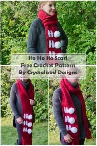 Ho Ho Ho Scarf Free Crochet Pattern by Crystalized Designs
