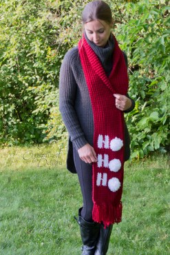 Ho Ho Ho Scarf Free Crochet Pattern