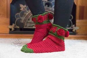 Ho Ho Ho Sock Crochet Pattern