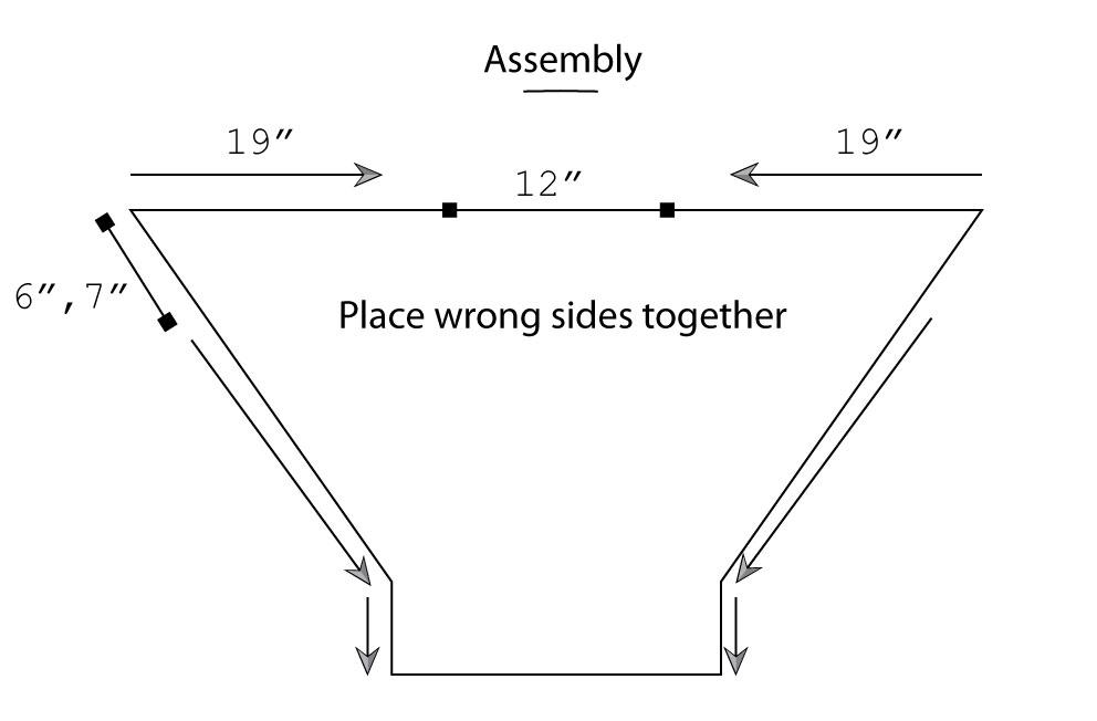 Nikiti Crochet Pullover Assembly Schematic