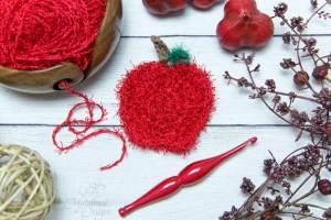 Apple-Scrubby-Free-Crochet-Pattern