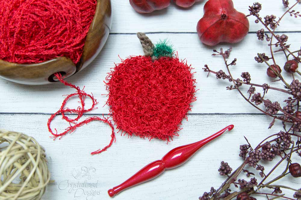 Apple-Scrubby-Free-Crochet-Pattern