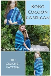 KoKo Cocoon Cardigan Free Crochet Pattern by Crystalized Designs 15