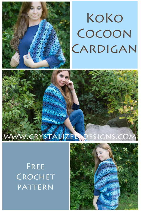 KoKo Cocoon Cardigan Free Crochet Pattern by Crystalized Designs 15