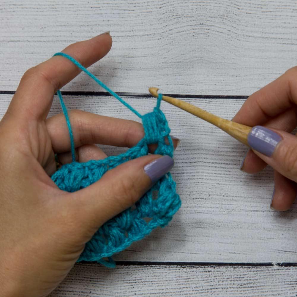 Puff stitch step 5