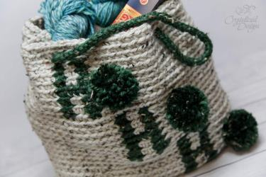Ho Ho Ho Tote Bag Crochet Pattern by Crystalized Designs